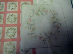 Jack Dempsey Circle of Flowers Quilt Squares for by ClassyStitches, $9.00