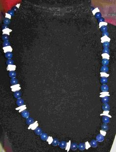 blue lapis necklace  18 inches  $20.00