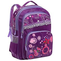 15.5 Inch Purple Butterfly Design Student Backpack School Book Bag for Girls MyGift http://www.amazon.com/dp/B00WHFNXB4/ref=cm_sw_r_pi_dp_N8lPvb1T9SEBS