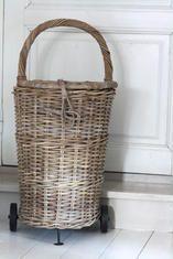 .Old Weathered French Market Basket