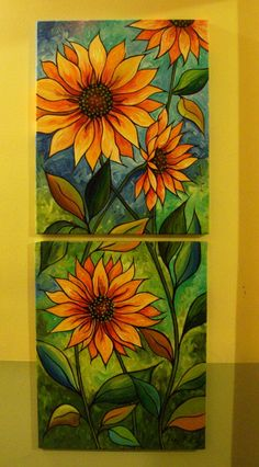Great idea for a stained glass mosaic