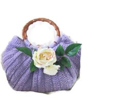 Romantic Crochet Bag Clutch in Lilac Purple by Iovelycrochet, $89.00