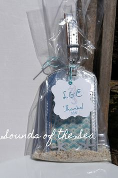 By the Sea wedding favor
