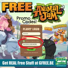 Animal Jam Promo Codes 2015 | Free Diamonds, Gems & Memberships - http://gimmiefreebies.com/animal-jam-promo-codes/