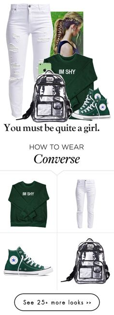 """BTS"" by aribearie on Polyvore featuring Miss Selfridge and Converse"