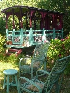 perhaps... I was a gypsy in a past life.  a place to nap or dine in the yard!