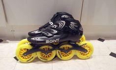 Mijn skeelers: Bont Vaypor shoes. Powerslide Frame, Matter super-juice 110mm