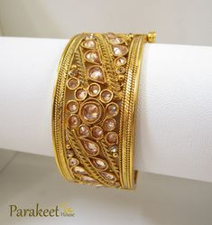 Parakeet House Pair of Classic Bangles with Gold Plating