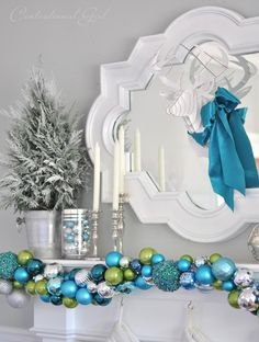 No matter how carefully you plan, it seems like you always wind up with more ornaments than could ever fit onto your Christmas tree. Kate Riley of Centsational Girl shows you how to turn these extra ornaments into a beautiful garland. || @centsationalgrl