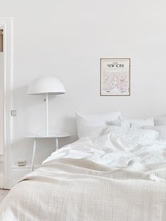 All white bedroom. styling by Mimmi Staaf   via (my) unfinished home