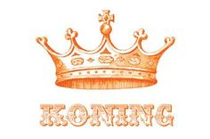 Free printable orange crown koning (king) placemat. Could do other things with this too.