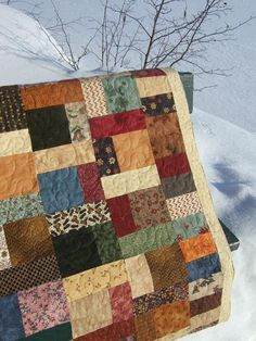 This is Donna's Flannel quilt and it is made up from all her flannel scraps. I love the colors and how cozy flannel quilts are, I could see...
