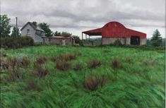The Red Barn by Eugene Conway at Gormleys Fine Art gallery. Leading dealers in Irish art since 1990.