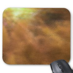 Golden Explosion Of Color Abstract Mouse Pad