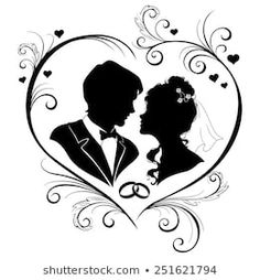 Wedding invitation card with silhouettes of the bride and groom. Vector illustration card for bride and groom Similar Images, Stock Photos & Vectors of Elegant silhouette of the bride and groom isolated on white background. Wedding Invitations Silhouette, Wedding Silhouette, Wedding Invitation Cards, Wedding Cards, Dragon Silhouette, Silhouette Clip Art, Mothers Day Drawings, Bride And Groom Silhouette, Wedding Couples