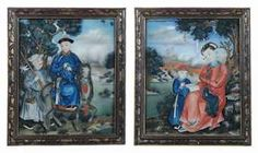 A PAIR OF CHINESE REVERSE GLASS PAINTINGS  LATE 18TH CENTURYhttp://www.christies.com/