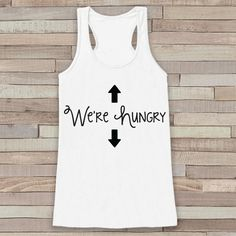 Maternity Tank - Simple Pregnancy Shirt - We're Hungry Tank - White Tank Top - Pregnancy Announcement Shirt - New Mom