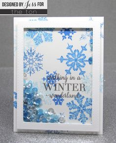 Create beautiful layered snowflake flurries on your papercrafts with Crystal Flurries stamp set. - inches - 20 stamps - Made of photopolymer - Made in the U. - This set comes with a color printe Diy Christmas Cards, Xmas Cards, Holiday Cards, Christmas Crafts, Christmas Holiday, Card Making Inspiration, Making Ideas, Acetate Cards, Snowflake Cards