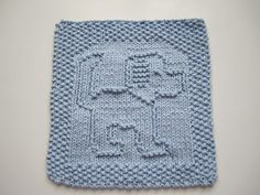 Free Knitting Pattern - Dishcloths & Washcloths : Tail A Wagging Dishcloth
