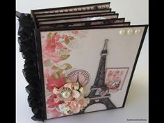Handmade Mini Album in a Paris themed design!  This cottage shabby album is not only worth watching the video to see it....but also how to create it so you can make one of your own!  Mini Album created using Ooh La La Collection from Nitwit Collections https://www.nitwitcollections.com/shop/index.php?main_page=product_info&cPath=1&products_id=1623