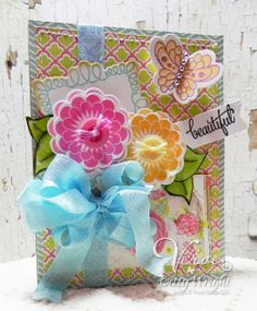 Beautiful  Verve's February Diva Inspirations Hop! Verve Inspiration Team Verve stamps, Verve die cuts, and ribbon
