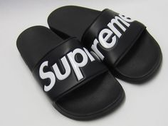 c436c1577f2ed0 SUPREME SANDALS SLIDES FLIP FLOP 9 SS14 BOX LOGO BLACK DS NEW 100% AUTHENTIC