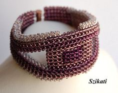FREE SHIPPING White Pearl/Seed Bead Statement Bracelet by Szikati