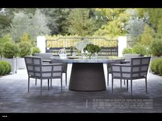 Round Dining Table, Outdoor Dining, Outdoor Decor, Global Design, Carrara Marble, Houzz, Outdoor Furniture Sets, Patio, Stone