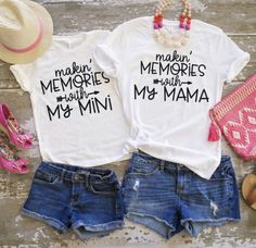 Mom and Me Tee's from Jane! Unisex fit and perfect for mom and baby. Cute sayings in multiple styles. Mom and baby matching outfits complement each other and get compliments on these adorable shirts. Mommy And Me Shirt, Mommy And Me Outfits, Love Shirt, Diy Shirt, Mom And Me, Shirt Style, Baby Shirts, Mom Shirts, Cute Shirts