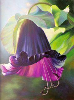 """Morning Meditation"" Original acrylic painting by Judy Leila Schafers, 40"" x 30"""