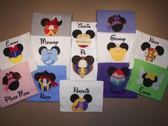 Disney Family Shirts Mister Miss Embroidered Vinyl Mouse Ears Family Vacation Clothes or Cruise Shirt - personalized - Mix n Match by on Etsy Disneyland Shirts, Disneyland Trip, Disney Vacations, Disney Trips, Disney Cruise, Disney 2017, Disney Shirts For Family, Disney Family, Family Shirts