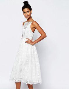 Image 1 ofASOS Premium Occasion Midi Dress In Geo Lace