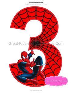 SPIDERMAN PRINTABLE NUMBER Centerpiece by KidsBirthdayParties