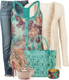 """""""Floral Tank"""" by lv2create on Polyvore"""
