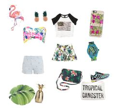 """""""Tropical Fash"""" by planeta-janeta56903 on Polyvore featuring Casetify, Boohoo, Samudra, adidas, Wet Seal, Paul & Joe, Quest & Quality, Old Navy and Aamaya by priyanka"""