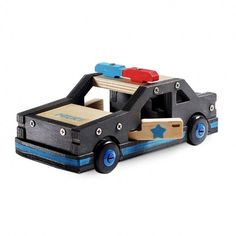 Fast and fun, this squad car is easy to build with the included pre-cut components!