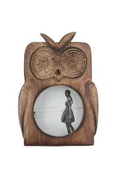 "I totally need this Owl Frame! ***UPDATE**** It's tiny! And the little ""feathers"" on its head break easily. Not worth the $18."