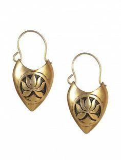 Lotus Carved Earrings