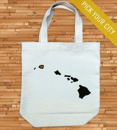 Love these State Tote Bags. You choose the city and state. Could be fun to put little gifts for a wedding party - maybe have it in their hotel room.