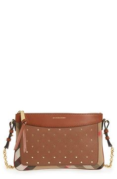 Burberry Peyton Studded Leather Crossbody Bag | Nordstrom