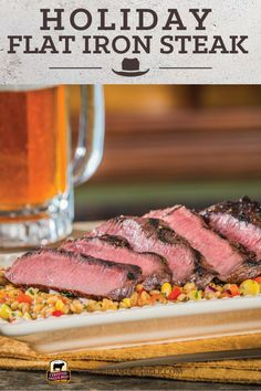 Flat iron steak that's marinated is tender, juicy, and full of flavor. Make this easy recipe for Savory Marinated Flat Iron Steak for an incredible meal. #bestangusbeef #certifiedangusbeef #beefrecipe #beef #marinated #savory #flatiron #flatironsteak #steak #grilling #dinner
