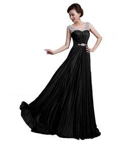 Cute black prom dresses with straps - Black dresses