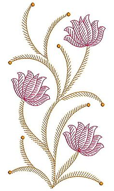 Applique Embroidery Design 19939 Embroidery Motifs, Applique Embroidery Designs, Animal Skeletons, Kantha Stitch, Motif Design, All Flowers, String Art, Flower Tattoos, Creative Art