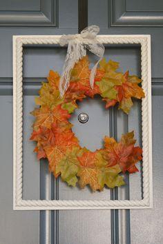 A Diamond in the Stuff: Fall Monogram Wreath