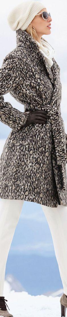 Madeleine Taupe Multi-Color Coat