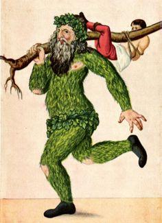 L'Om Salvei nelle illustrazioni folkloristiche, l'uomo di Bele