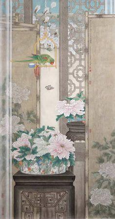 【国画】刘宏伟《雅韵飘香 花鸟篇》