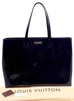 b7cdb44e33f Louis Vuitton Wilshire   Vernis Gm Bleu Infini Patent Leather Tote 44% off  retail