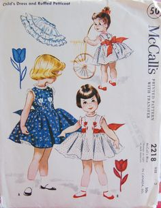 Vintage 1958 McCall's Girls Dress Pattern by NostalgiaVintage2, $8.50