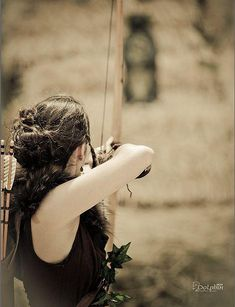 """Choose your team."" Her voice echoed in my head. ""I want her."" His voice joined her. I glanced back to see him watching me. Time to show off. I pulled back an arrow and aimed. I let go and the arrow soared through the air and into the bullseye of the target. ""Wise choice."" She nodded and I couldn't help but smile."